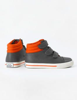 Leather High Tops (Grey)