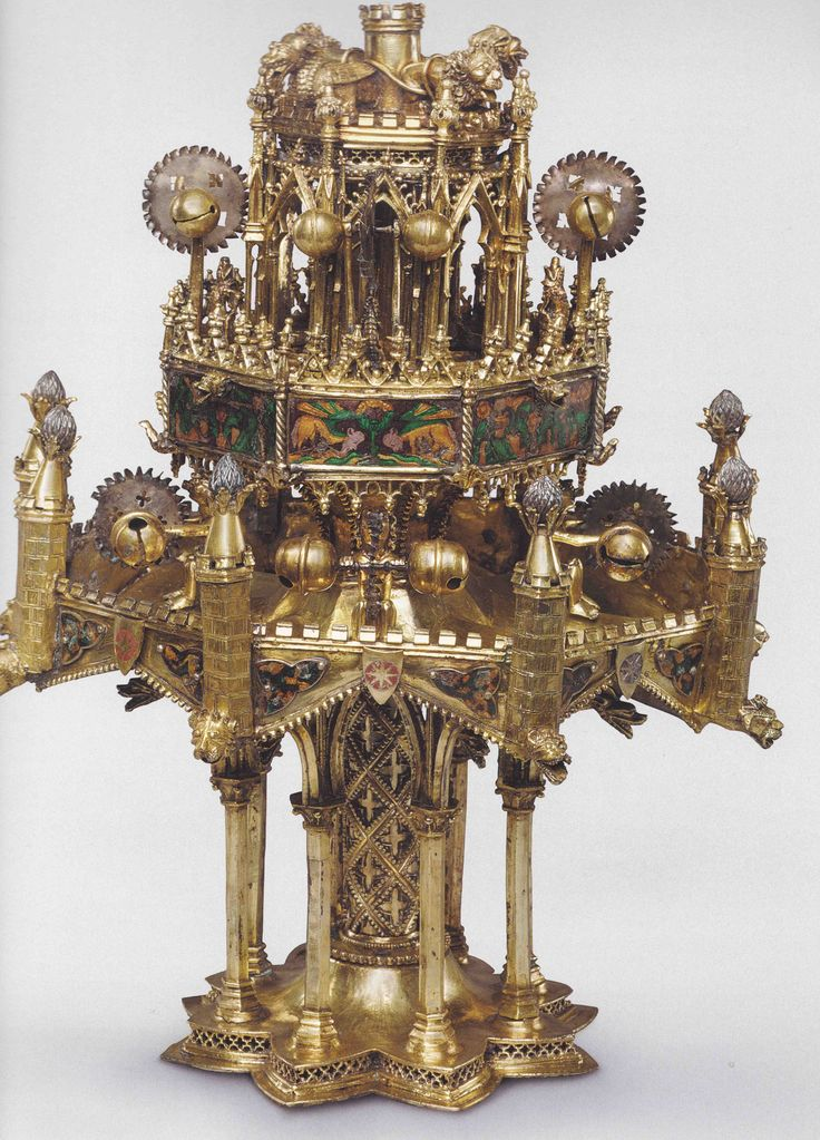 Popular Tischbrunnen Paris um Silber vergoldet Email Cleveland Museum of Art