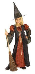 Amazon.com: Halloween Concepts Child's Orange Glitter Witch Costume, Small: Toys & Games