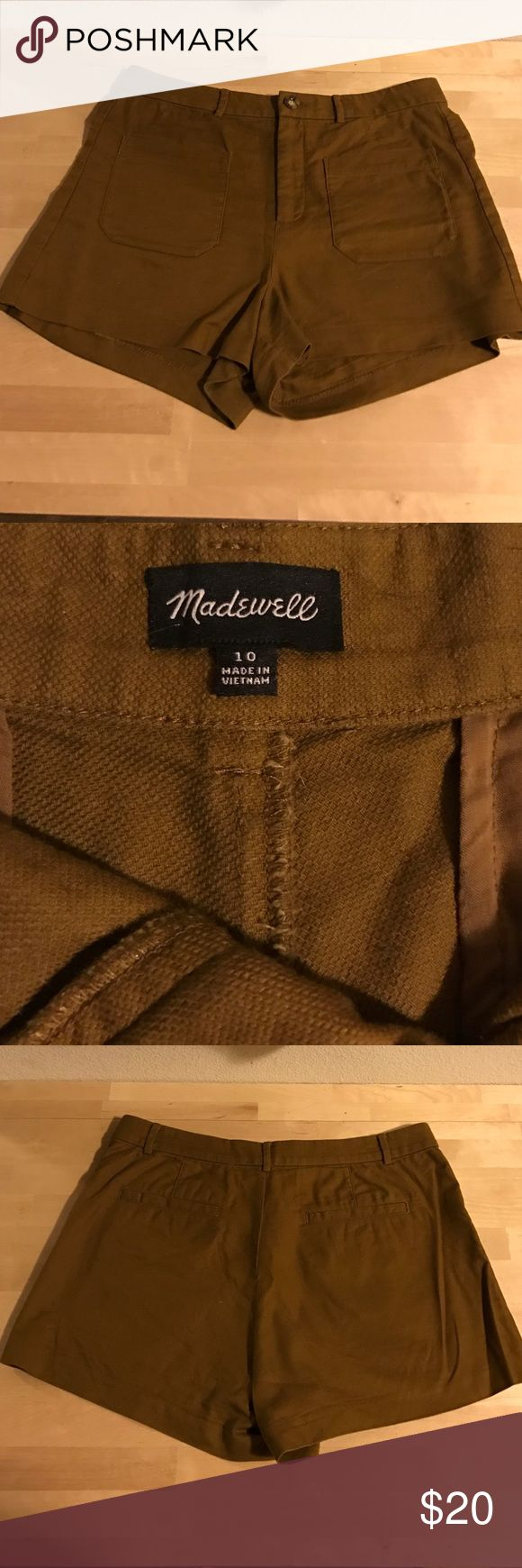 Madewell Brown Linen Shorts Madewell High-rise Brown Shorts. Size 10.  82% cotton. 18% Linen Madewell Shorts