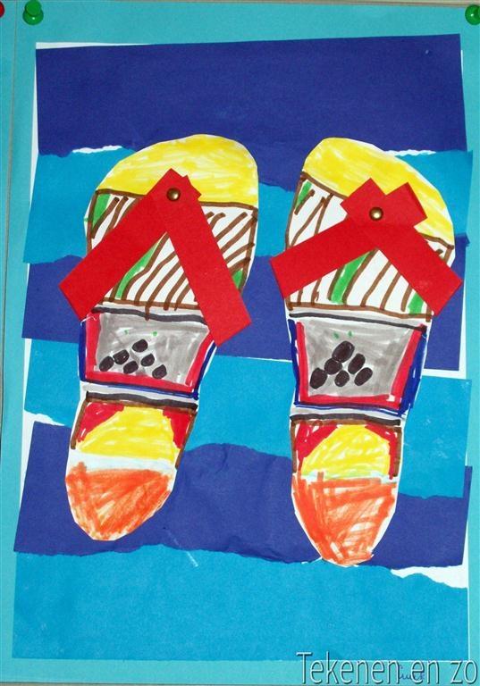 slippers:Tekenen en zo: zomer