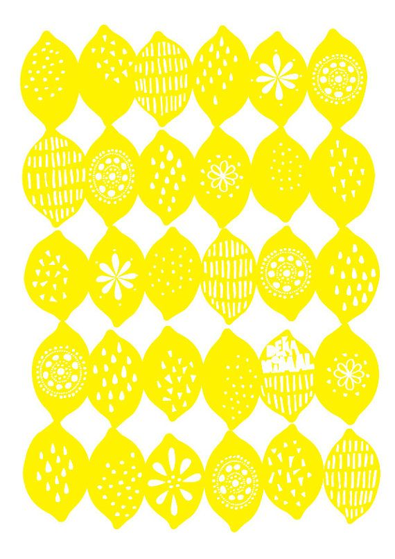 Option 1 - art for kitchen wall above island benches. Lemons Art Print…