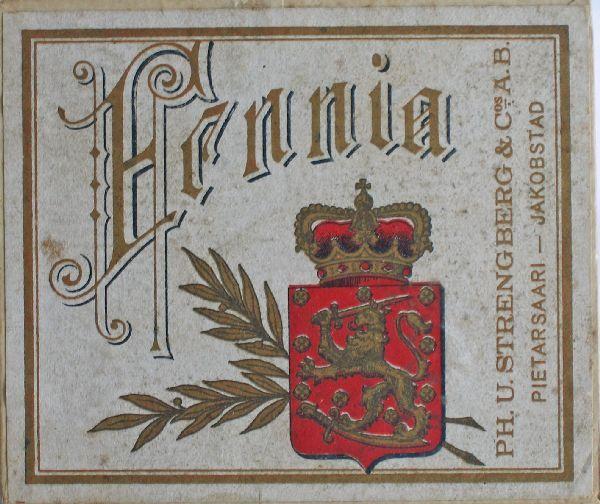 Old Finnish Tobacco, Made in Pietarsaari, Finland.
