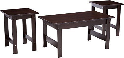 Instant makeover. Give your living room a fresh new look with this 3-pack table set from the Beginnings collection. It includes two end tables and a coffee table to give your room a completed look. Each table is finished on all sides in a classy Cinnamon Cherry, making it a versatile fit for... more details available at https://furniture.bestselleroutlets.com/living-room-furniture/tables/living-room-table-sets/product-review-for-sauder-beginnings-table-set-cinnamon-cherry-3-p