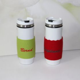 Personalisierter Coffee to go Thermobecher - Muntermacher nicht nur für Morgenmuffel
