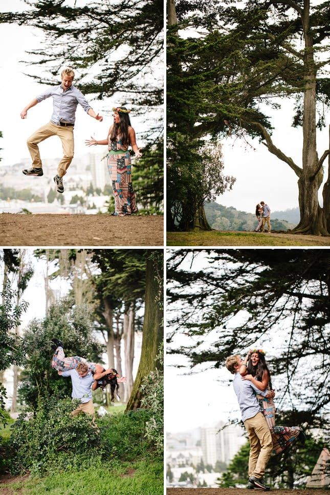 30 Ideas for an Outdoor Engagement Photo Shoot via Brit + Co