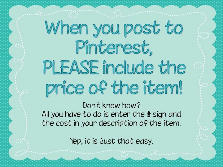 Pricing on Pinterest!  It is so easy and it draws more traffic...