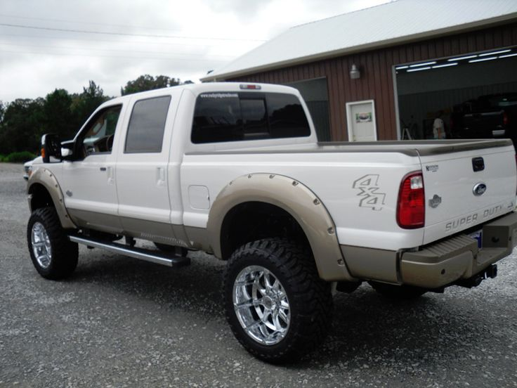 112 best trucks images on pinterest lifted chevy trucks chevy ford f 250 white two tone lifted truck sciox Image collections