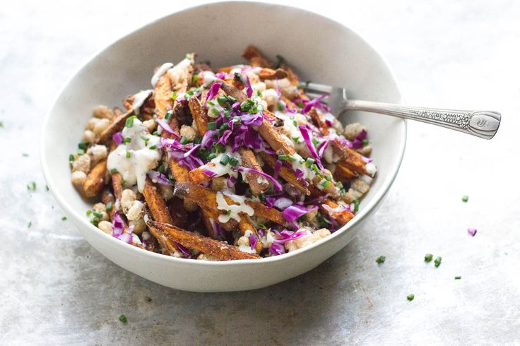 ... with crispy beans loaded sweet potato fries with crispy cannellini