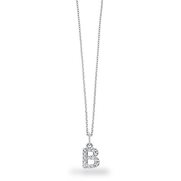 Block Letter Name Necklace Diamonds