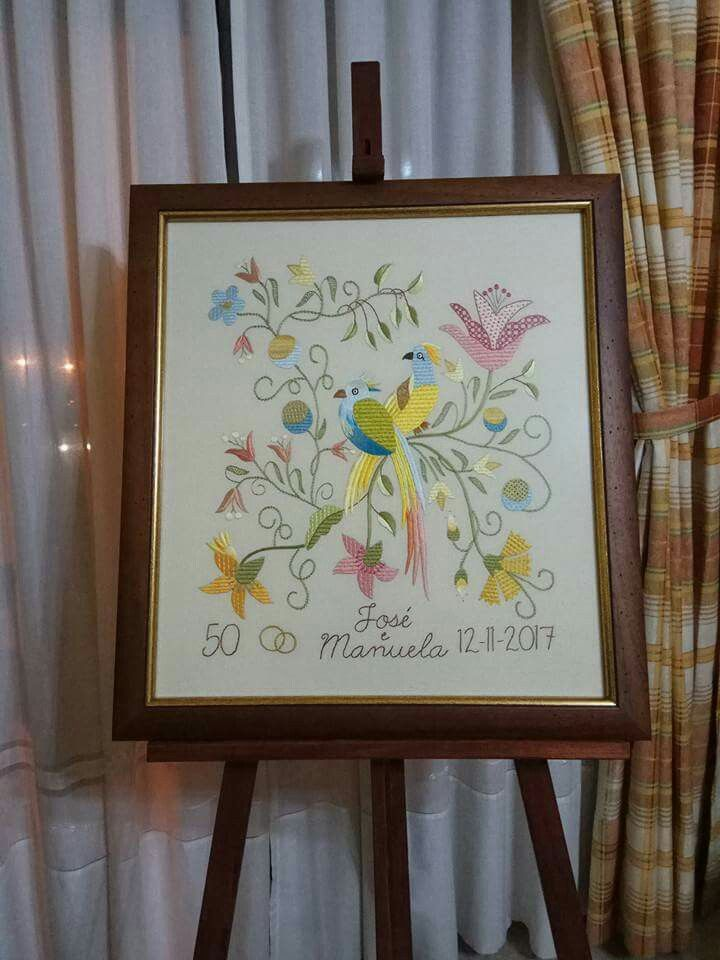 #bordadodecastelobranco #embroidery #bordado #quadro