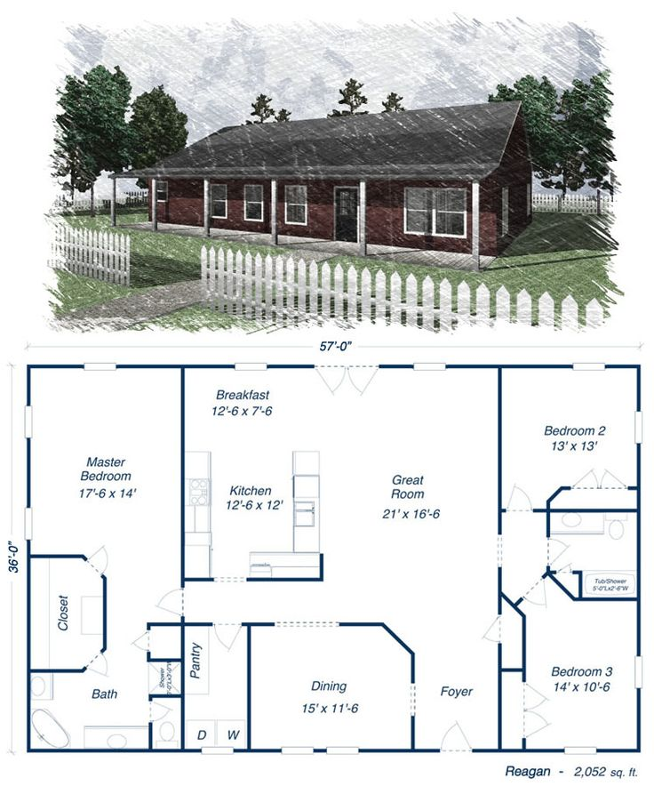 25 best ideas about metal house plans on pinterest open for Ranch style home kits