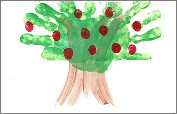 Handprint Calendar: Apple Tree   Christmas Your Way: Foot Prints, Hand Prints, Handprint Calendar Apple Tree, Footprint, Free Printables, Tree Handprints