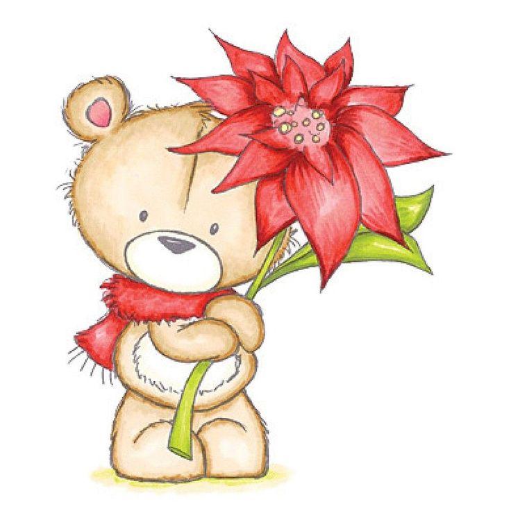 улыбкой картинки мишек с цветочками сразу сказать, что