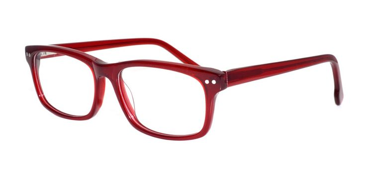 DNA 8134 - RED. DNA Eyewear offers effortless style with the use of simple lines and high end acetate material.  There is a pair of DNA glasses for every facet of your personality, from modern and professional, to mischievous and fun.  www.iLookGlasses.ca