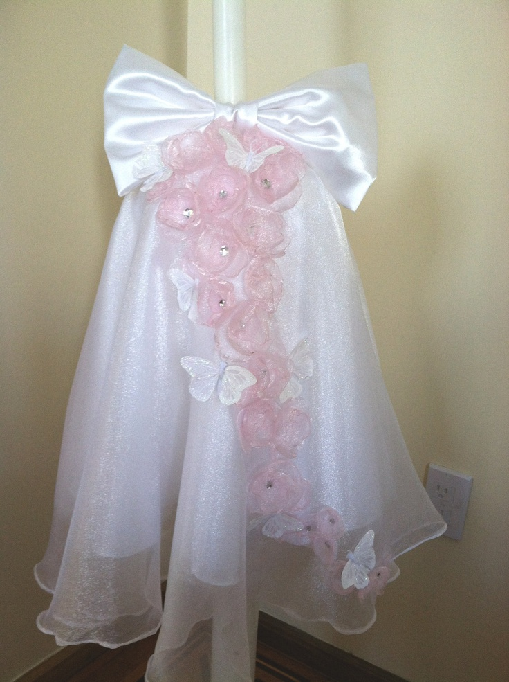 Flutter of Butterflies Girls Baptism Lambada / Lambatha/ Greek Wedding Lambatha. $130.00, via Etsy.