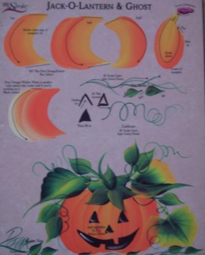 Donna Dewberry RTG Jack O Lantern Ghost Worksheet One Stroke New Free Shipping | eBay