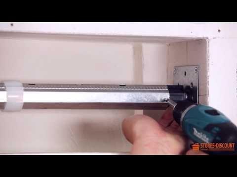 VIDEO TUTORIEL : Comment poser un volet roulant traditionnel (coffrage intégré au mur ou en applique à l'intérieur)