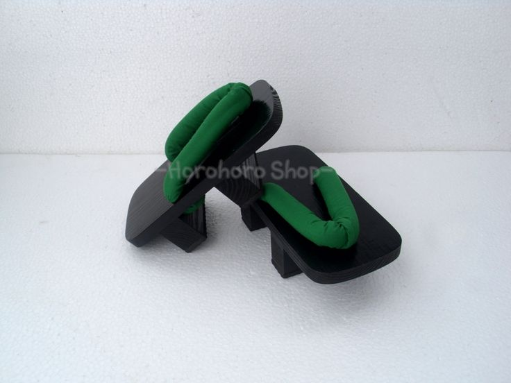 geta kotak - hitam - hamano hijau - IDR 111K