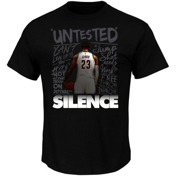 LeBron James Cleveland Cavaliers Majestic Silence the Critics T-Shirt - Black - $26.99