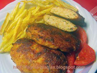 Μμμμ... η μανούλα έφτιαξε...: Μπιφτέκια από κοτόπουλο!!! - Chicken Burgers