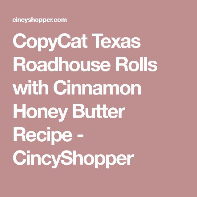 CopyCat Texas Roadhouse Rolls with Cinnamon Honey Butter Recipe - CincyShopper