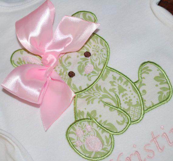Baby bunny Easter Applique