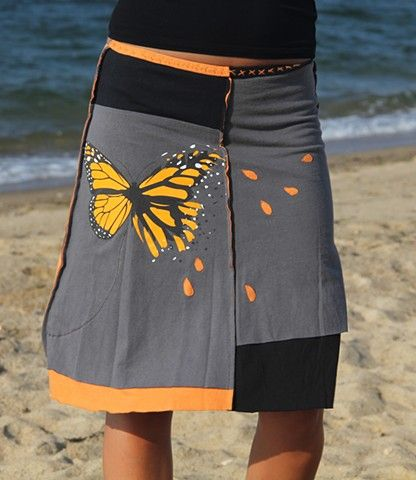 Fleeting Butterfly skirt made from recycled t-shirts by Jupiter Girl