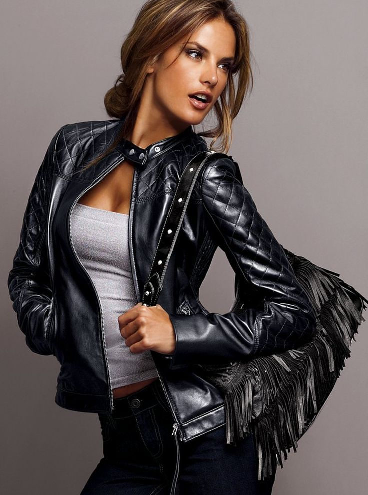 Alessandra Ambrósio - leather jacket