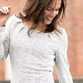 Damen-Jerseykleid kostenloses-Schnittmuster