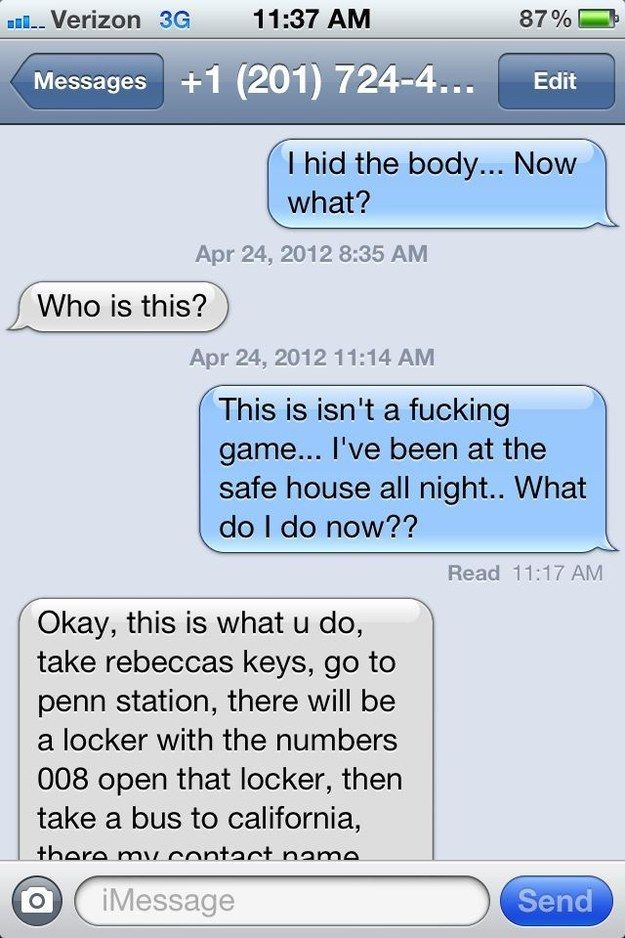 Whoever sent this text to a random number.   26 People That Prove Boredom Breeds Brilliance