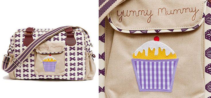 Grape Bows Yummy Mummy Wickeltasche aus der Kategorie Pink Lining von Mamarella - Details