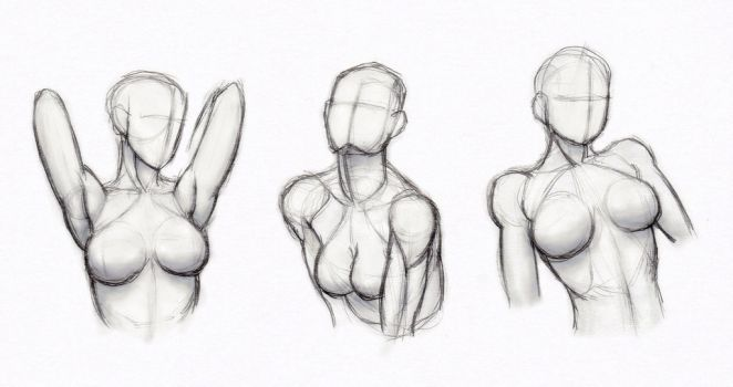 DeviantArt: More Like Copy's and Studies: Kate-FoX fem body's 4 by HIRVIOS
