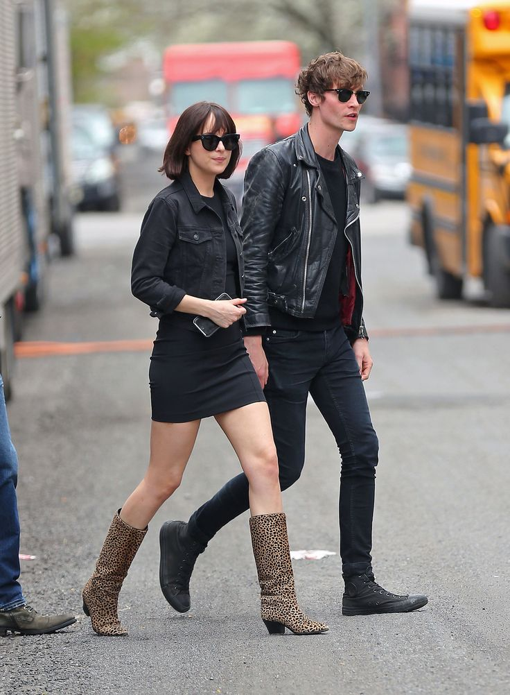 Dakota Johnson Proves That the Trick to Making the Sexy Bodycon Look Cool Is All in the Boots