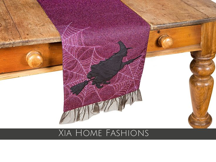 Add a Touch of Magic to Your Halloween Meal with Our Glistening Witch Table Runners!