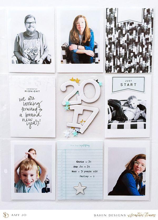 New Year project life inspiration - Sahin Designs