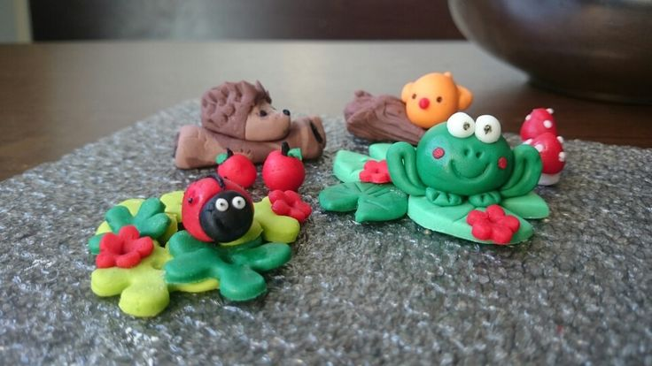 Fondant toppers Forest Animals