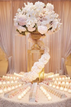 Blush + Gold dream wedding | Escort card table | Think Pink | White Lilac Inc.
