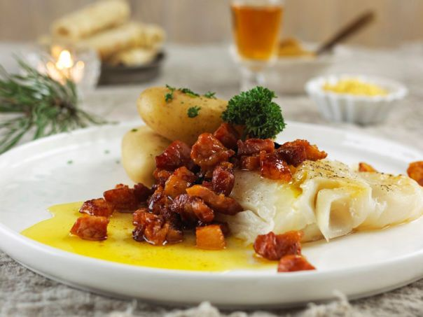 Traditionel lutefisk