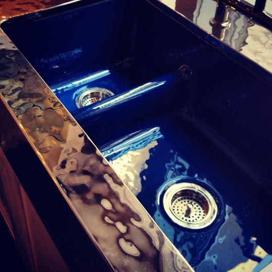 four new colors designed by Jonathan Adler for Kohler's enameled cast iron kitchen sink models
