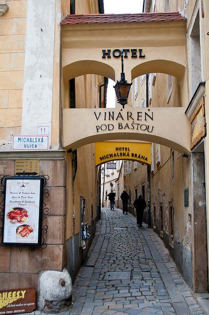 Entryway to the hotel- Bratislava, Slovakia