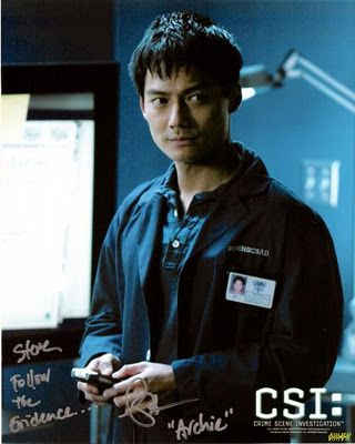 Archie Kao - Archie Johnson. Archie is the audio/visual surveillance specialist who works in the Las Vegas Crime Lab.