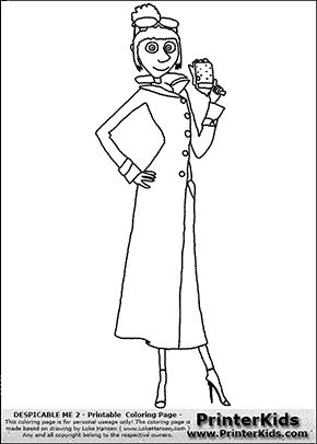 despicable me 2 lucy 1 full figure coloring page
