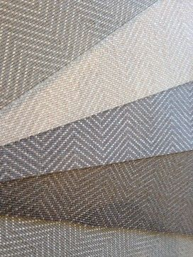"Geometric Pattern Carpet and Rugs - Stunning Herringbone pattern offered for wall to wall installation, area rugs and stair runners. Wool / polyester blend comes on a wide roll - 15' in width. The polyester thread adds a sheen for a bit of ""bling""."