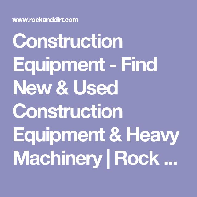 Best 25+ Used construction equipment ideas on Pinterest Heavy - construction equipment manager sample resume