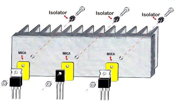 The Transistors Are Placed On The Same Heat Sink Audio