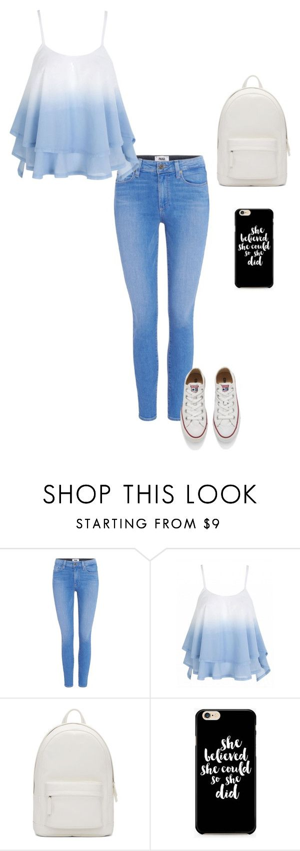 """Untitled #118"" by crissgab12 on Polyvore featuring Paige Denim, PB 0110 and Converse"