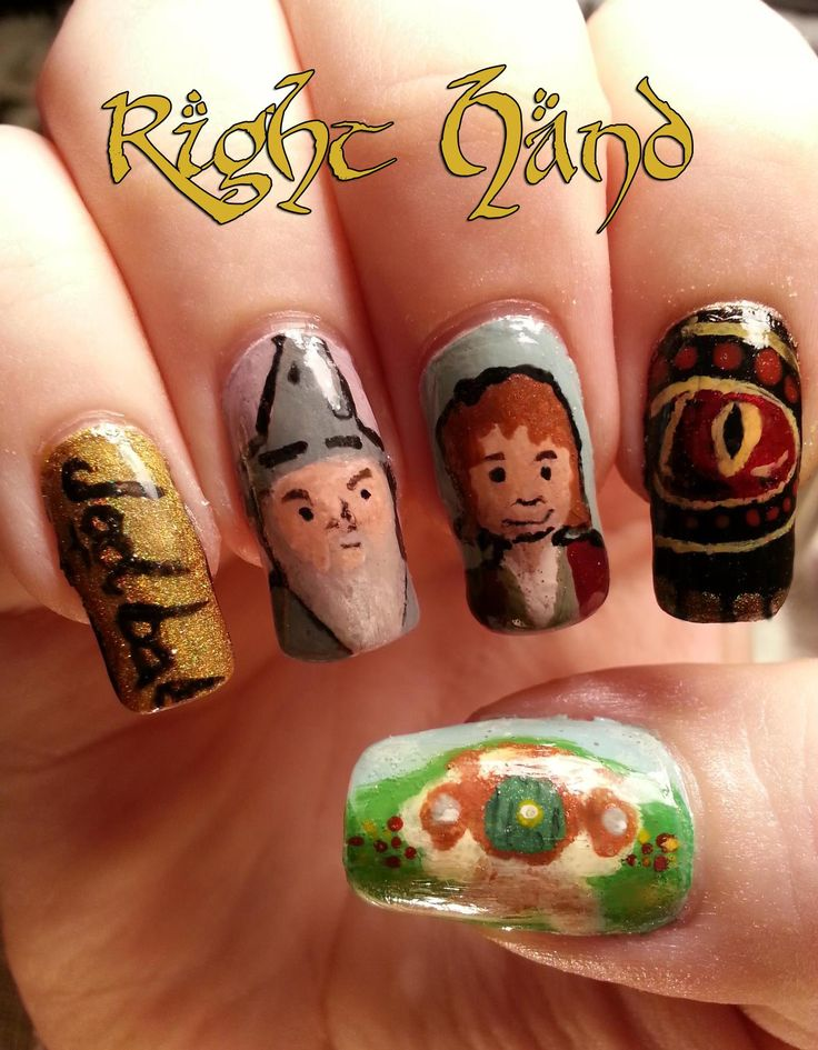 36 best Middle Earth Nail Art images on Pinterest   Middle earth ...