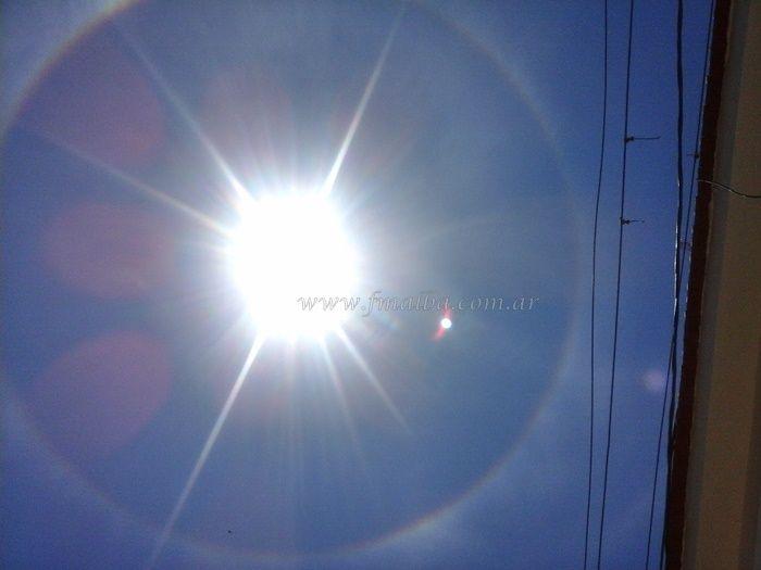 Halo solar sorprende a gran parte del departamento - FM Alba