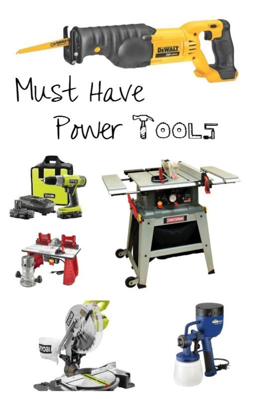 Must Have Power Tools for you Wood Shop Used woodworking tools, Woodworking workbench